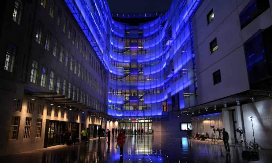 The BBC headquarters at New Broadcasting House in London.