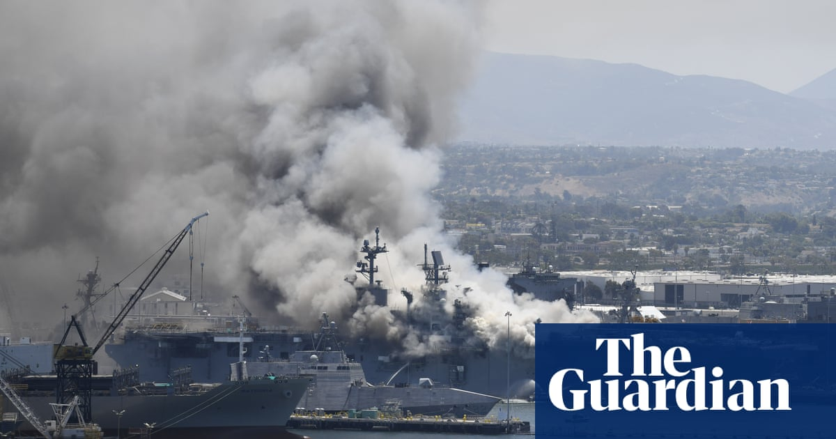 11 people injured after explosion on ship at US naval base - the guardian