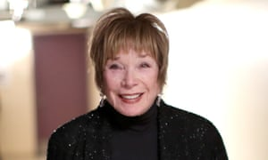 Shirley MacLaine backstage at the Oscars ceremony on Sunday.