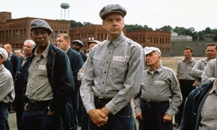 The Shawshank Redemption, starring Tim Robbins, centre, and Morgan Freeman, left.