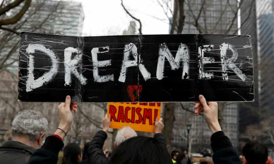 Protesters in New York City call for protection of the Dreamers in 2018.