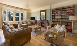 Large sitting room at Mottistone Manor Farmhouse, Isle of Wight, UK