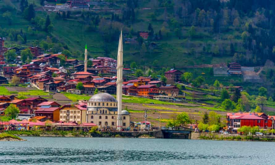 Landscape of the Uzungol in Trabzon in Turkey.