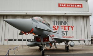 A Eurofighter Typhoon at BAE Systems
