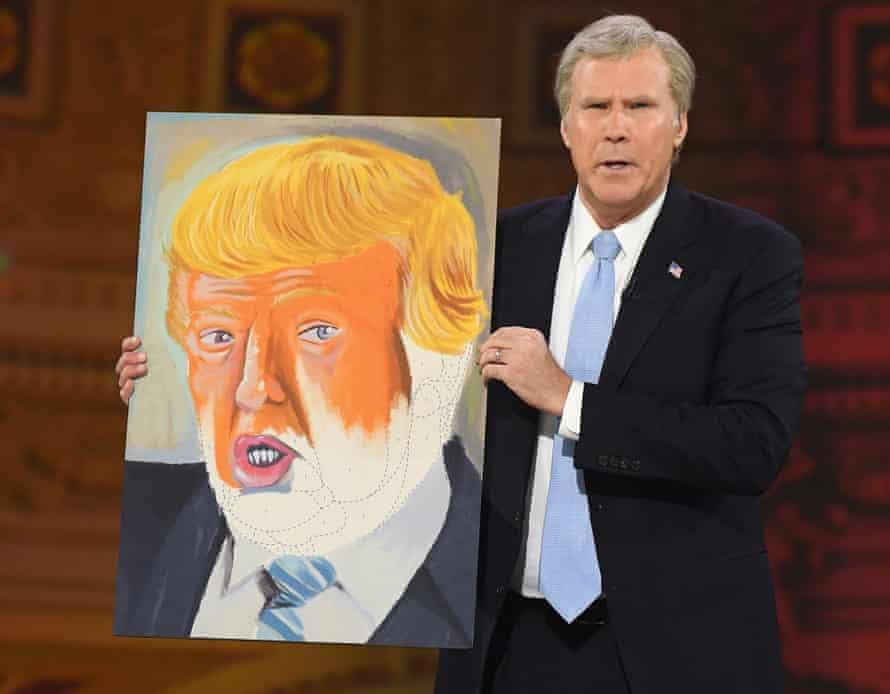 Will Ferrell appears as former president George W Bush, 'the Martin van Buren of the 21st century'.