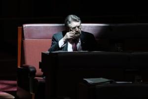 Senator Derryn Hinch during question time