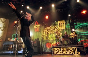 REM play the Montreux Jazz Festival in 1999.