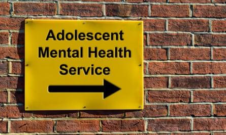 Adolescent Mental Health Service sign