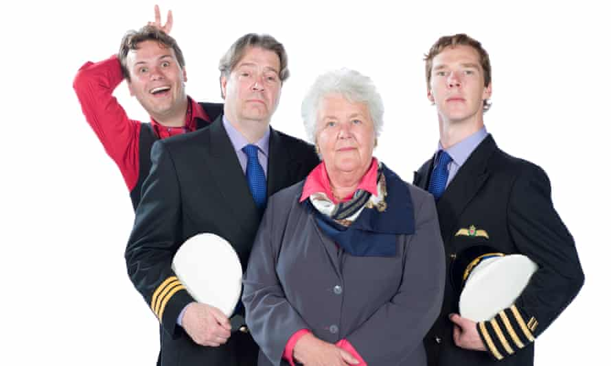'You can't let your characters be happy for too long' … from left, John Finnemore, Roger Allam, Stephanie Cole and Benedict Cumberbatch.