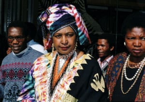 Winnie appears at the supreme court in Johannesburg in 1991