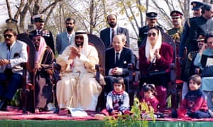 Benazir Bhutto with her children during a visit to the UAE