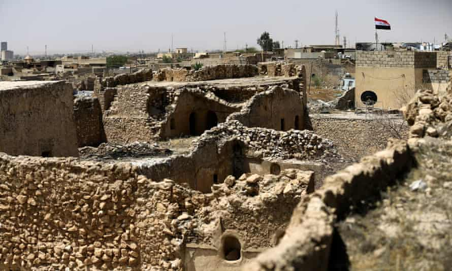 Tal Afar castle after it was liberated from Isis militants