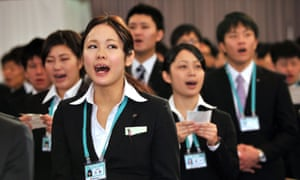New recruits at a Japanese a retail company.