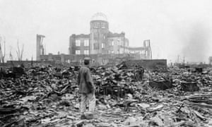 An allied correspondent surveys the devastation in Hiroshima shortly after the bomb was dropped