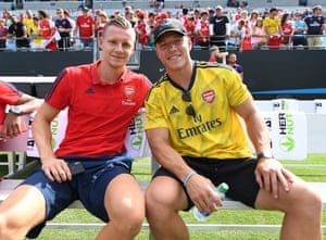 Christian McCaffrey and Bernd leno