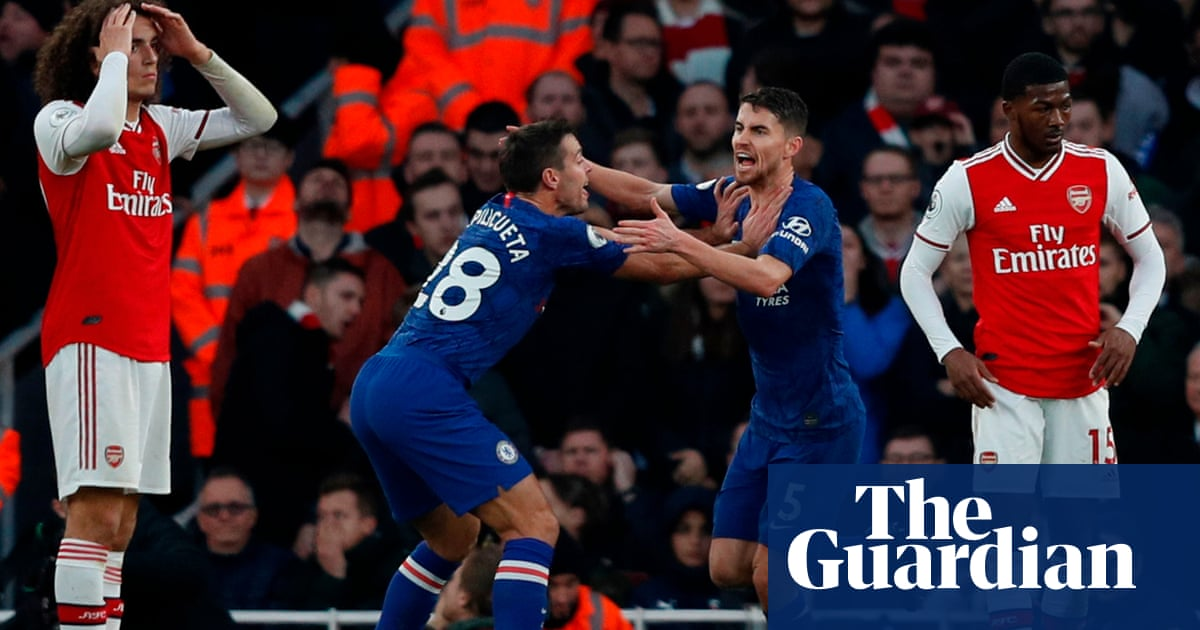 Frank Lampard admits Chelsea rode luck with Jorginho let-off at Arsenal