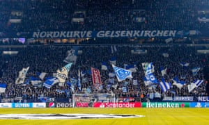 A Manchester City fan was seriously injured during an altercation at Schalke's Veltins Arena
