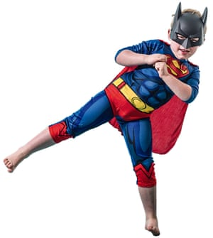 Tanya Gold's son, dressed as Superman