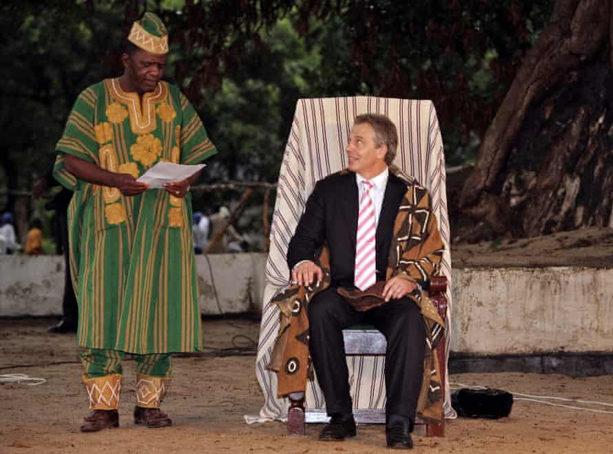 While still prime minister, Blair was made an honorary paramount chief in Mahera, Sierra Leone.