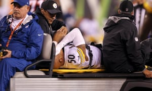 Ryan Shazier is carted off the field after his injury on Monday