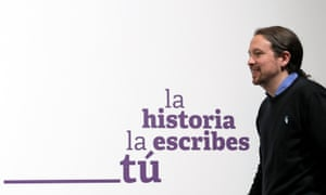 Unidas Podemos (Together We Can) candidate Pablo Iglesias after Spain's general election results were announced in Madrid.