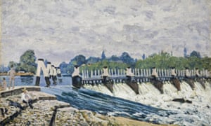 Alfred Sisley's Molesey Weir, Hampton Court, Morning (1874)