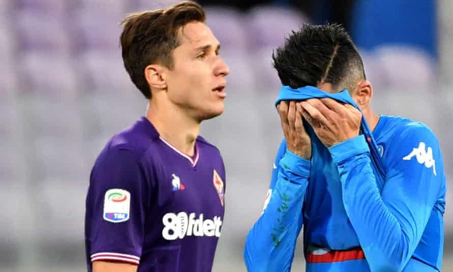 Fiorentina's forward Federico Chiesa
