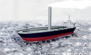 An artist's impression of how the sand grains might be deployed by ship.