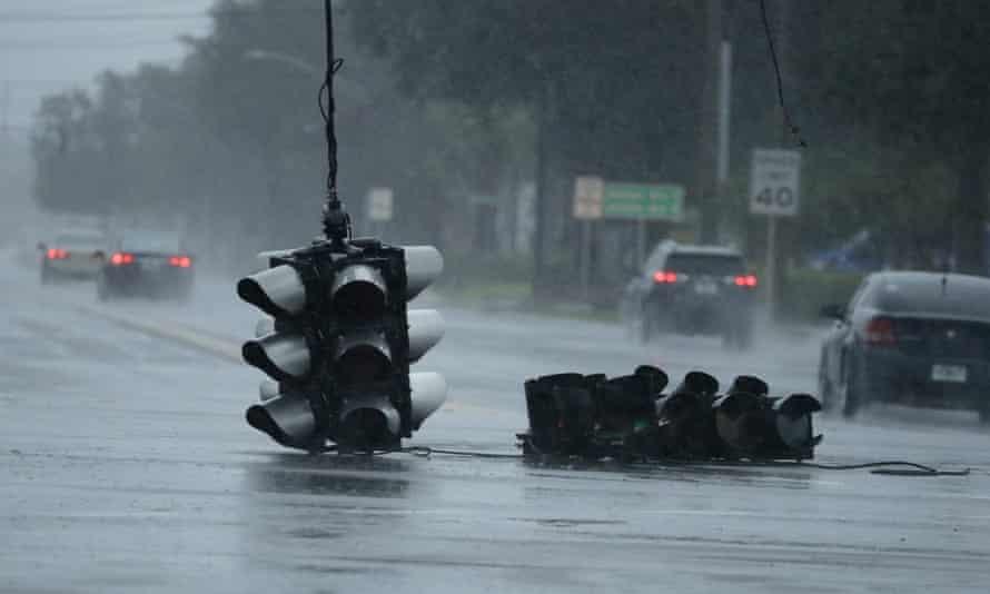 Hurricane Matthew, 2016's third-costliest disaster, hits Jacksonville, Florida, in October.