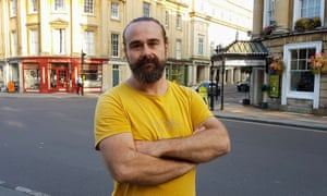 Spike Llewellyn earns £17,000 as a bookbinder and lives with his partner and her mother.
