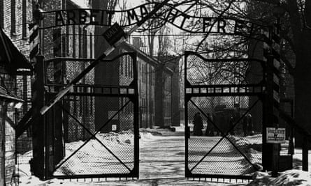 The gates of the Auschwitz extermination camp: built on Polish soil but planned, established and operated by German Nazis.