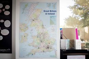 Hearts Milk Bank's map of UK milk banks