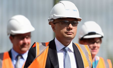 Sajid Javid at the National Grid training centre on 9 August.