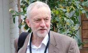 Jeremy Corbyn leaving his home in London