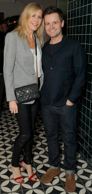 Declan Donnelly and wife Ali Astall attend Mollie's Motel & Diner Opening Party on January 29, 2019 in Buckland, Oxfordshire, England.