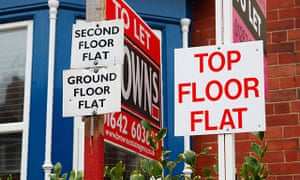 Flats to let signs in Saltburn by the Sea, Cleveland