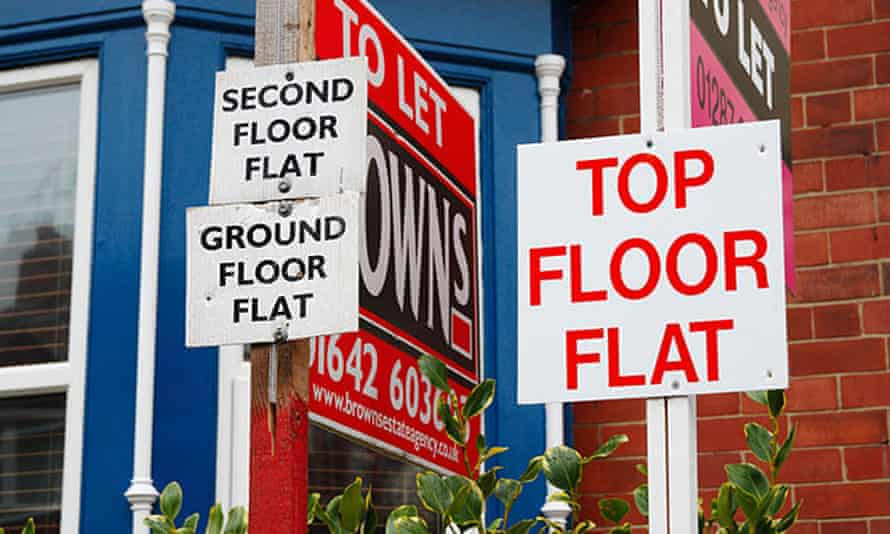 Flats to let signs at Saltburn by the sea, Cleveland