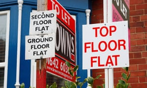 Flats and to let signs