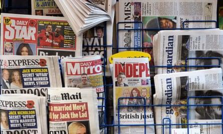 A newspaper rack in London