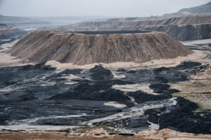 The Adani managed Parsa East and Kanta Basan open cut coal mine carved out of the Hasdeo Arand forest in Chhattisgarh.