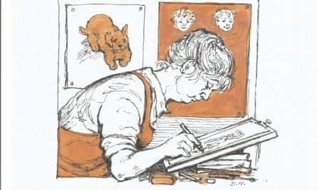Self-portrait by Shirley Hughes.