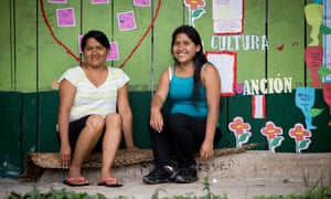 Agronomy graduate Aurora Lume, left, and Cool Earth's field officer Daylar Capaquia.