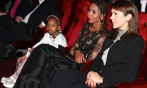 Crown Princess Mary with the Dukureh and her daughter at the film's premiere.