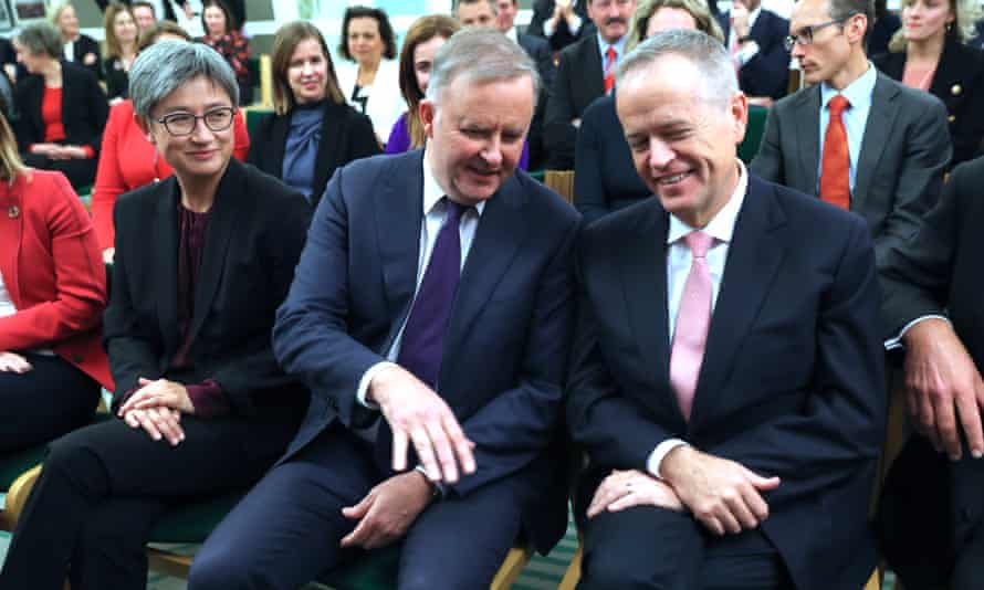 Anthony Albanese and Bill Shorten in the Labor Caucus in May.