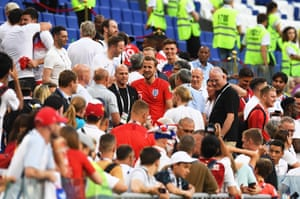 Harry Kane joins friends, family and supporters in the stands.