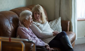 Maggie Lee is a 'befriender', visiting Pat Little who is in her 80s and has had a stroke.