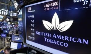 British American Tobacco at the New York Stock Exchange.