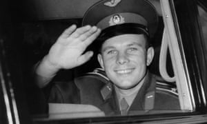 Russian cosmonaut Yuri Gagarin arriving at Buckingham Palace during his four-day visit to Great Britain, July 1961.