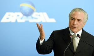 Brazil's acting president, Michel Temer