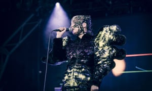 Björk live at the Manchester International Festival.